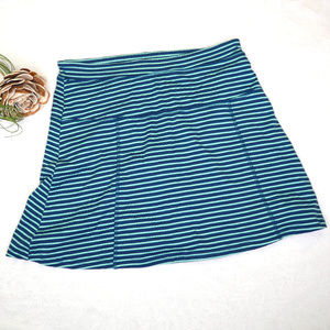Toad & Co Serena Samba striped skort skirt/shorts